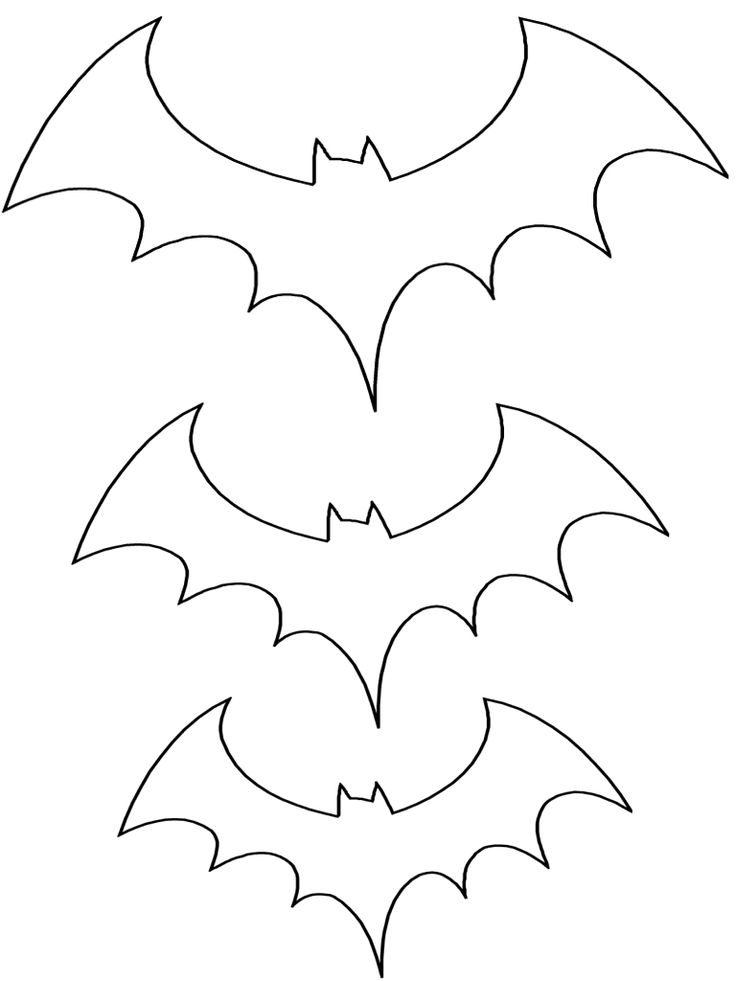 Bat Pattern | Halloween Coloring Page | Three Sizes Template | Preschool Printable Activities