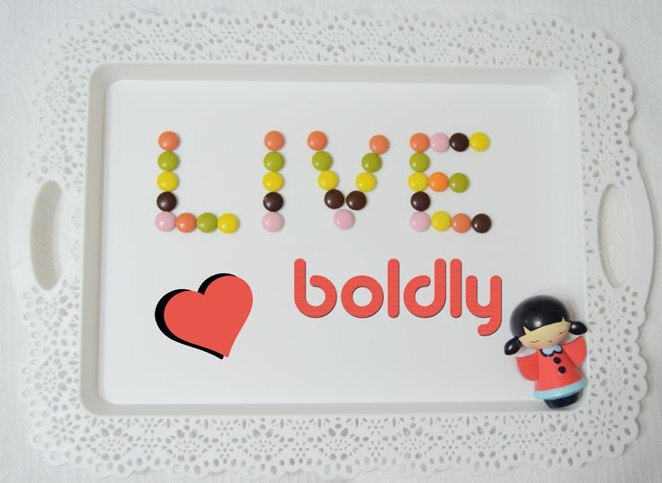 "These delicious candies are some little gifts from ""Thank You"". This was my LIVE BOLDLY board. Thank You for exploring it :)"