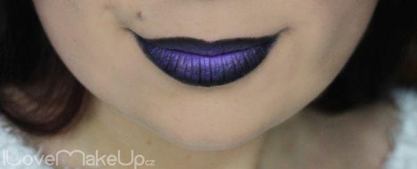Crazy lips Ombre lips prostě fialovo-černé rty | ILoveMakeUp