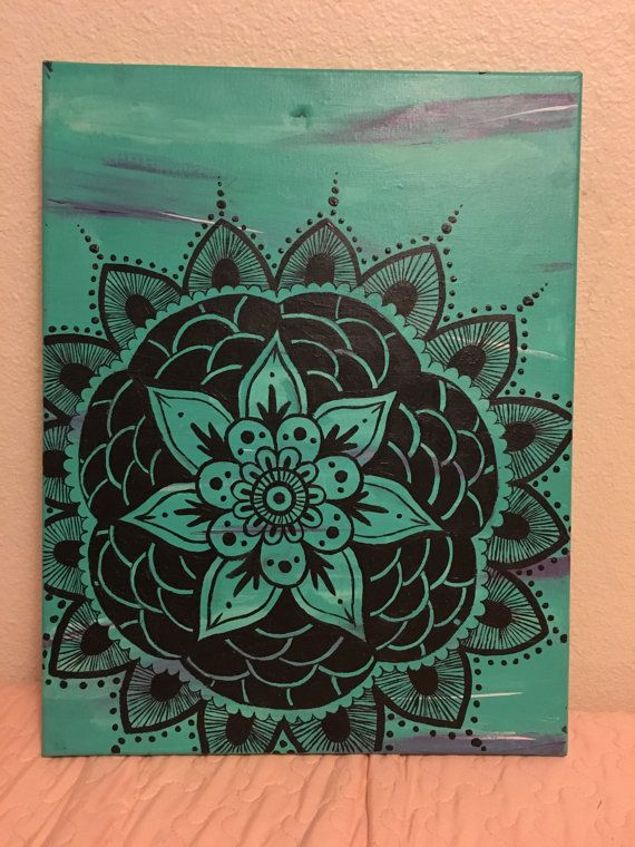 Mandala de pintura de la lona por KynaEspinosa en Etsy