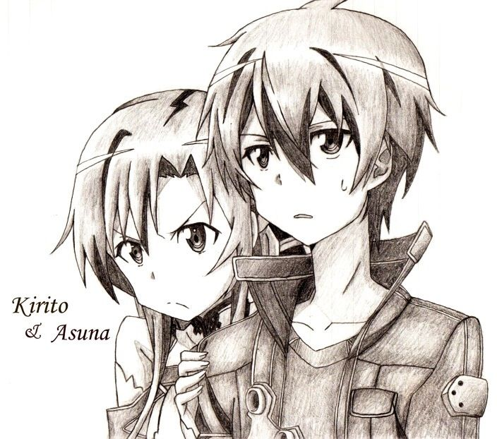 Sword Art Online Kirito Drawing