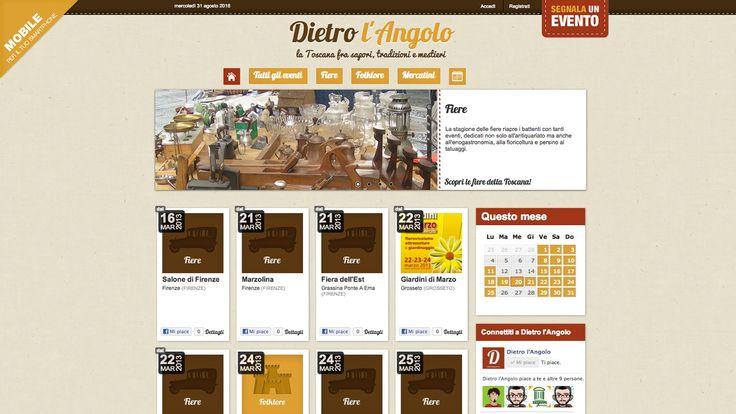 Siti web - Dietro l'Angolo | Studio Ellipse - Grafica e Web Design