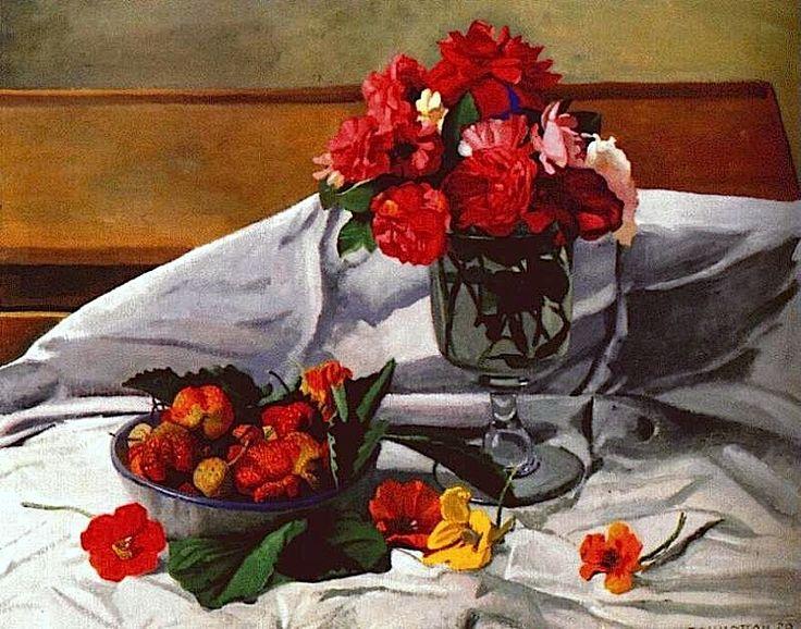 Felix Vallotton - Flowers and Strawberries 1920