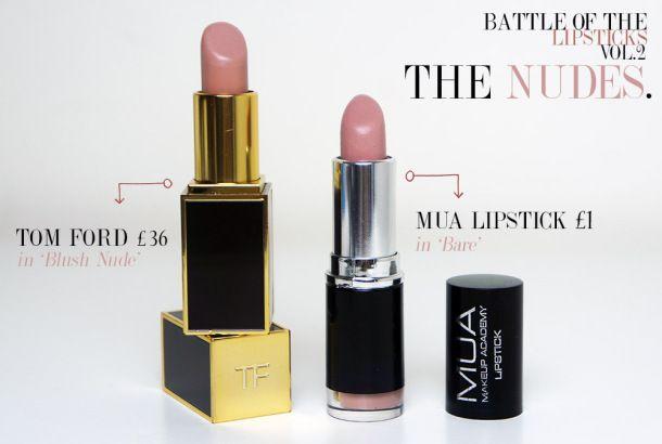 High end vs High Street lipsticks