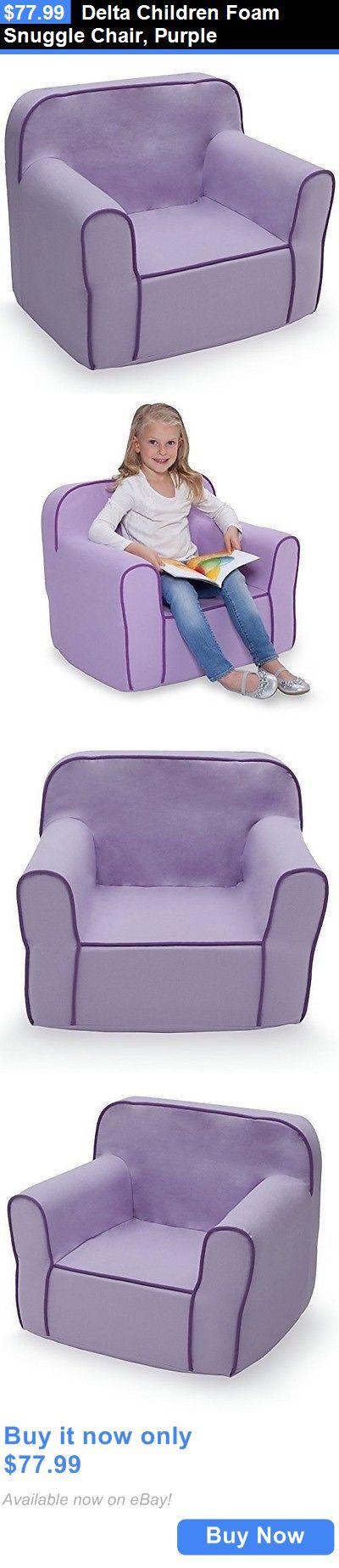 Kids Furniture: Delta Children Foam Snuggle Chair, Purple BUY IT NOW ONLY:  $77.99