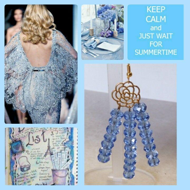 Handmade necklace with crystals designed by Elli lyraraki!!