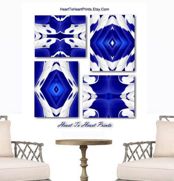 Abstract Blue Wall Art Set Of 3 Prints Navy Abstract Printable Etsy Blue Wall Art Navy Blue Wall Art Geometric Art Prints