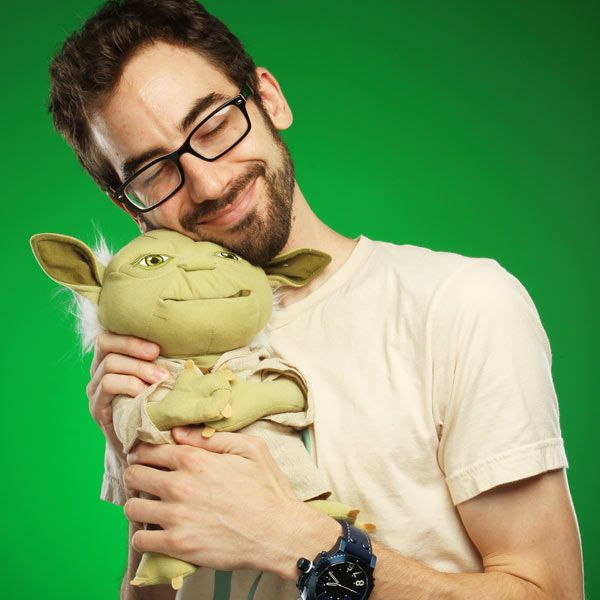 ThinkGeek :: Deluxe Talking Yoda Plush with Moving Mouth