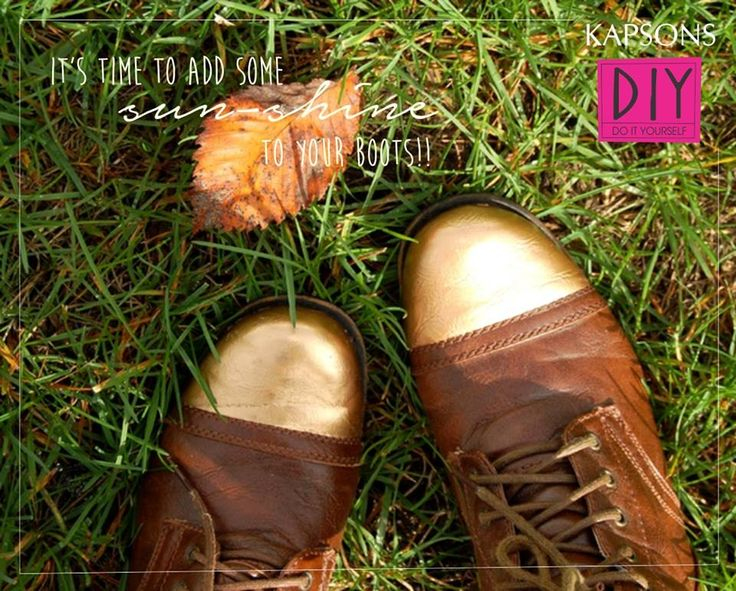 DIY your worn out shoes to these amazing ones!!! #Kapsons #DIY #MondayBlues