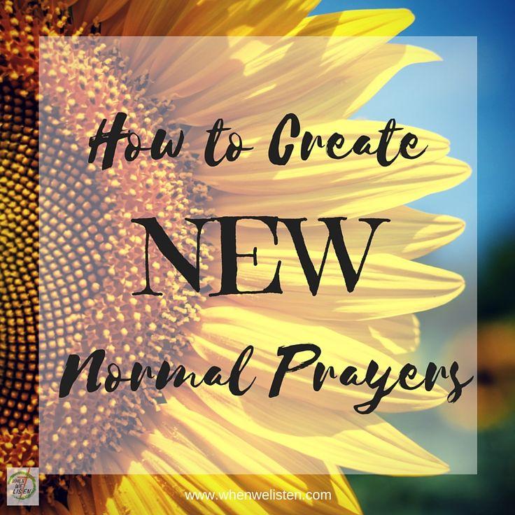 how to create a prayer