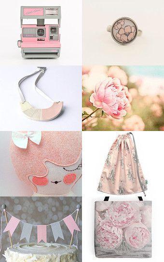 A beautiful Pink treasury - A Little Bit of Pink -  by HenHouse on Etsy