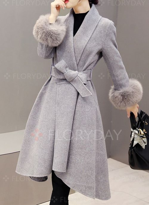 Coats - $53.99 - Polyester Long Sleeve Other Duffle Coats Coats Coats (1715184544)