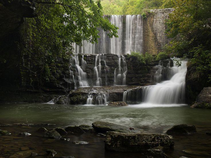 mountains waterfalls forest usa - photo #24