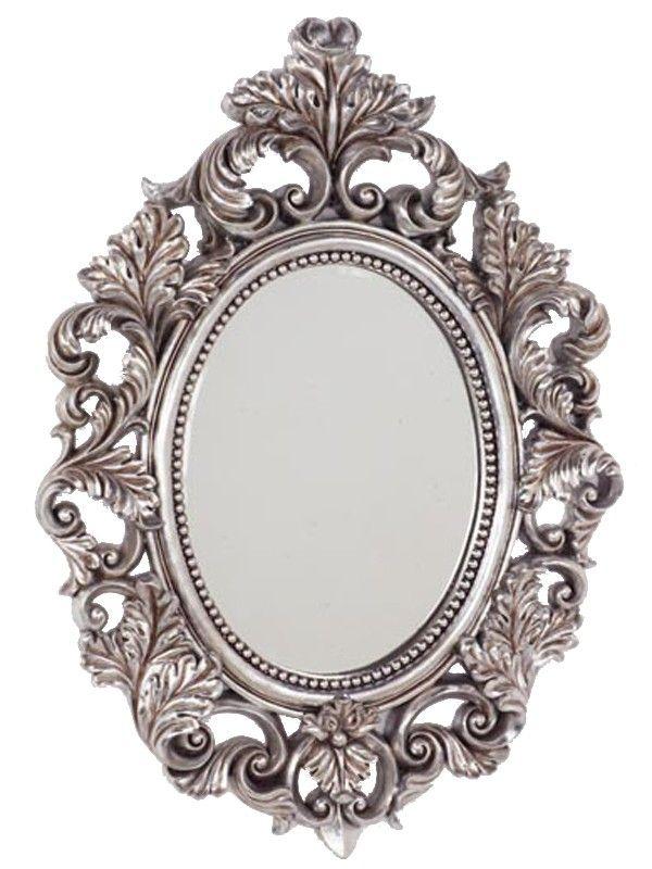 Espejo ovalado plateado espejos con estilos mooimaak ventas privadas de decoraci n e - Espejos marco plateado ...