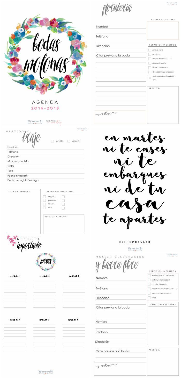 agenda gratis planificar boda
