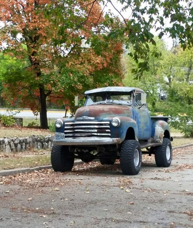 Lifted Advanced Design Chevy rat rod, jalopy, daily driver pickup. Looks like 1947 1948 1949 1950 1951 range