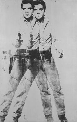 "Double Elvis  Andy Warhol (American, 1928–1987)    1963. Silkscreen ink on synthetic polymer paint on canvas, 6' 11"" x 53"" (210.8 x 134.6 cm). Gift of the Jerry and Emily Spiegel Family Foundation in honor of Kirk Varnedoe. © 2012 Andy Warhol Foundation for the Visual Arts / Artists Rights Society (ARS), New York"