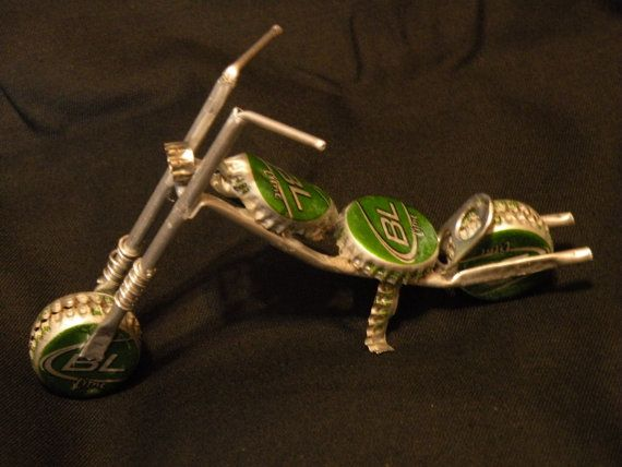 Bud Light Lime Beer Cap Motorcycle Art Makes By