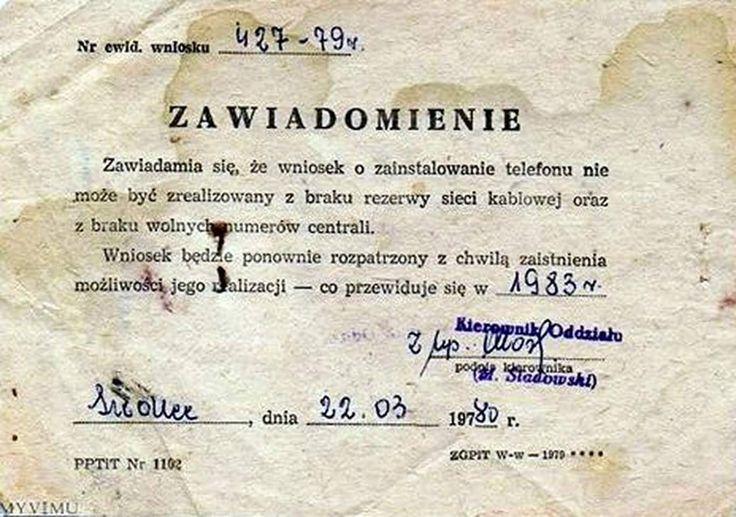 Tak bywało. Jeszcze na początku lat 80 były dzielnice w Warszawie gdzie telefon był luksusem.