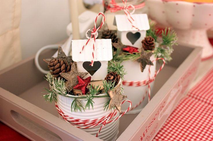 weihnachtsdekoration aus konservendosen wohnen und garten foto weihnachten pinterest. Black Bedroom Furniture Sets. Home Design Ideas