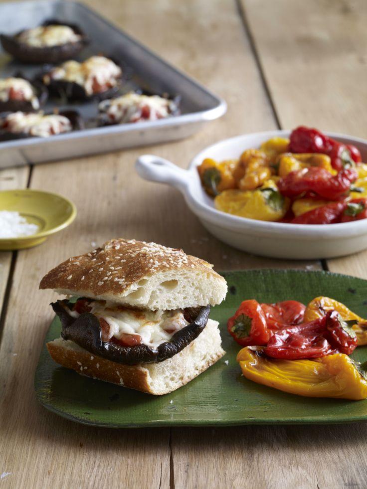 Portobello Pizza Cheeseburgers #myplate #pizza #veggies #easydinners
