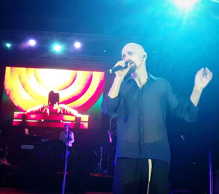 Tim Booth of James in concert. 11.07.2016, Bucharest, Romania