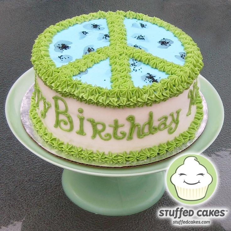 Peace sign: Cakes Peace, Birthday Parties, Amazing Cakes, Awesome Cakes, Peacesign Cakes, Girls Cakes, Signs Cakes Ideas, Peace Cakes, Birthday Cakes