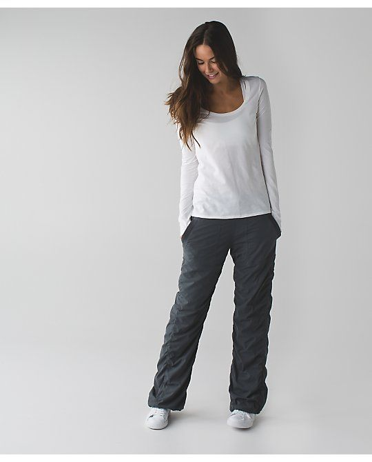 CASUAL FRIDAY: dance studio pant II from Lululemon. As seen on: http://www.aladyinalabcoat.com/#!CASUAL-FRIDAY/cmbz/567995170cf28854b3900182