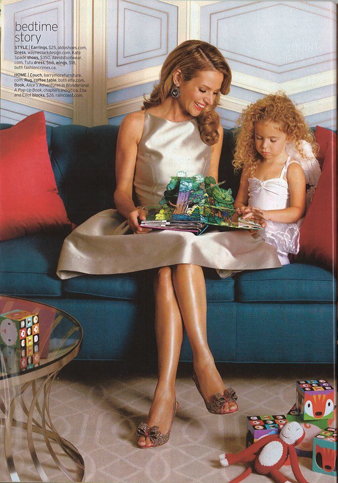 Chatelaine magazine in 2010 - à propos Mother's Day with our Dakota Sofa, still very popular. #madeforyou #beautiful