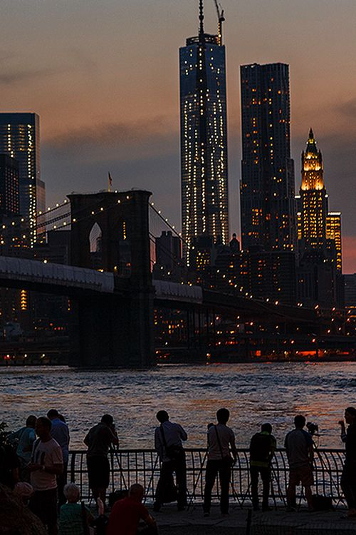 Photo spot: Brooklyn Bridge at sunset. shooting towards Manhattan from Brooklyn.