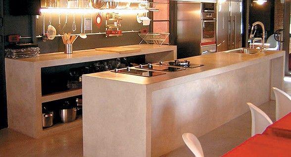 Cocina con cemento alisado | ESPACIO LIVING