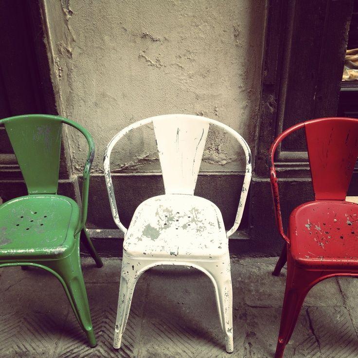 les couleurs de l'italie ( mais Tolix reste bien Français!!! )
