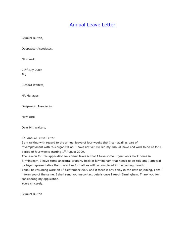 formal letter format for school leave application image gallery hcpr - Sick Leave Request Sample