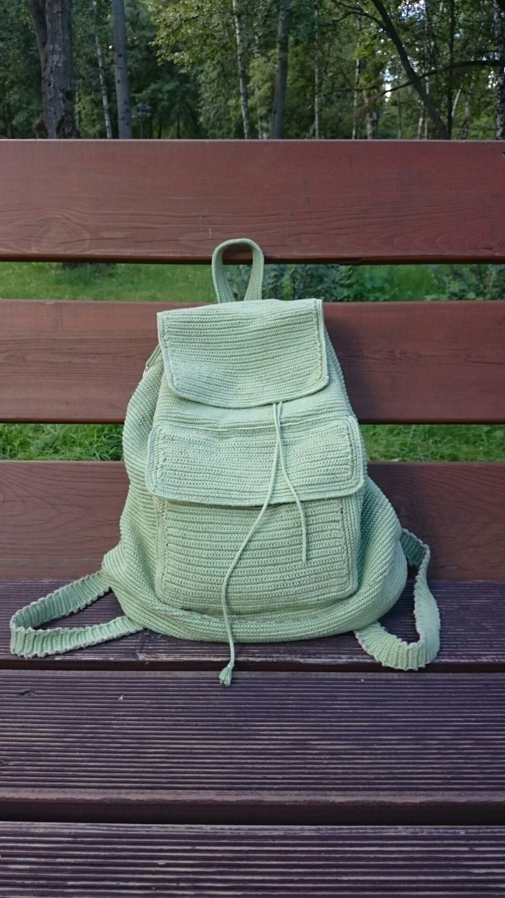 Рюкзак крючком