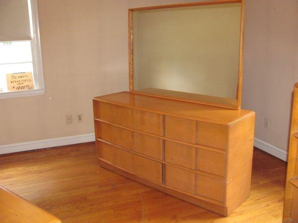 vintage heywood wakefield bedroom furniture set maple