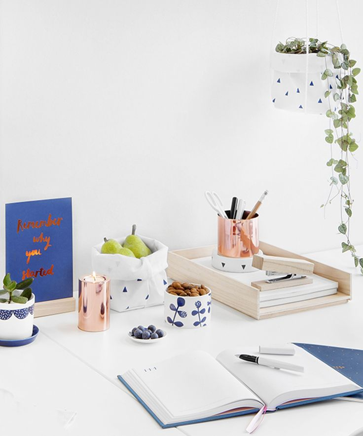Add a touch of Swedish style to your desk with our gorgeous new Svenska Hem collection of printed homewares: