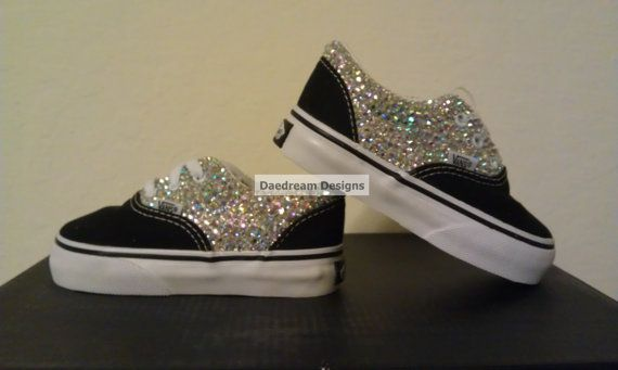 Custom Bling Vans Adult and Toddler Sizes Avail by DaedreamDesigns, $80.00