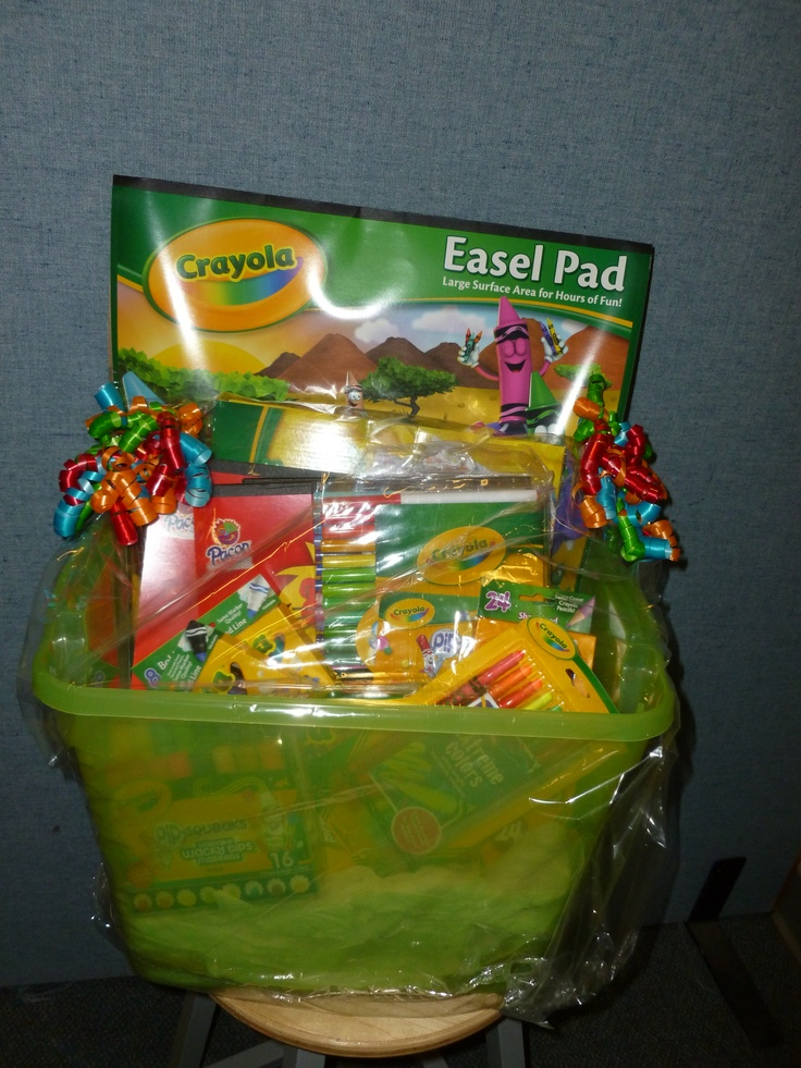 arts and crafts gift basket ideas crayola amp crafts basket gift basket ideas 7442
