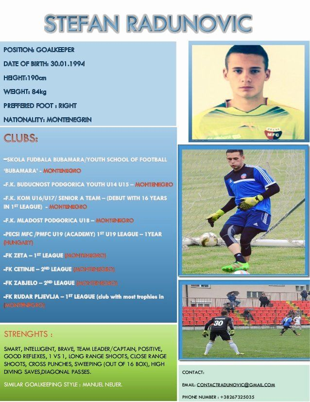 Pin By Kiragga On Lilo Soccer Players Resume Template Goalkeeper