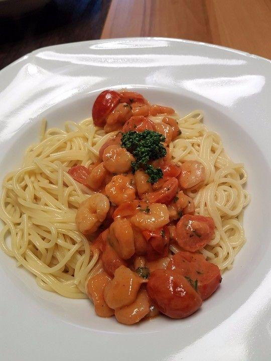 Garnelen-Tomaten-Sahne-Soße 1