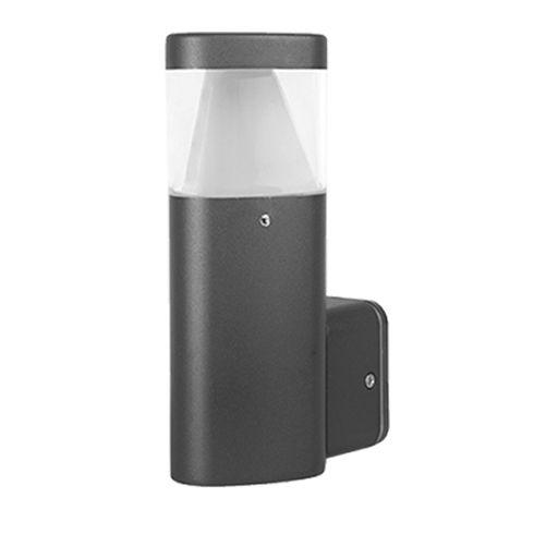 Az Elmark kültéri ledes lámpája Osram LED-et rejt a belsejében!  4000-4300 Kelvines LED van benne, szóval természetes fehér fényt ad ez a modern formájú lámpa.