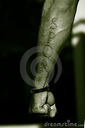 Tattoo SPQR Arm / Italian Boy