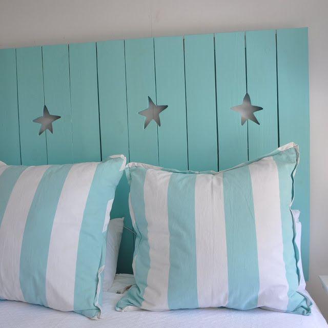 Coastal starfish wooden headboard a little piece of sand for Beach house headboard ideas