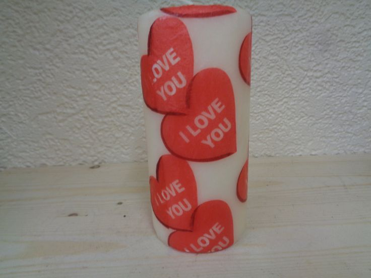 i love you red heart candle by CANDLEMANDAN on Etsy
