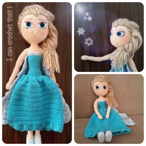Crochet Elsa Doll Pattern : 17 Best images about Crochet elsa doll on Pinterest ...