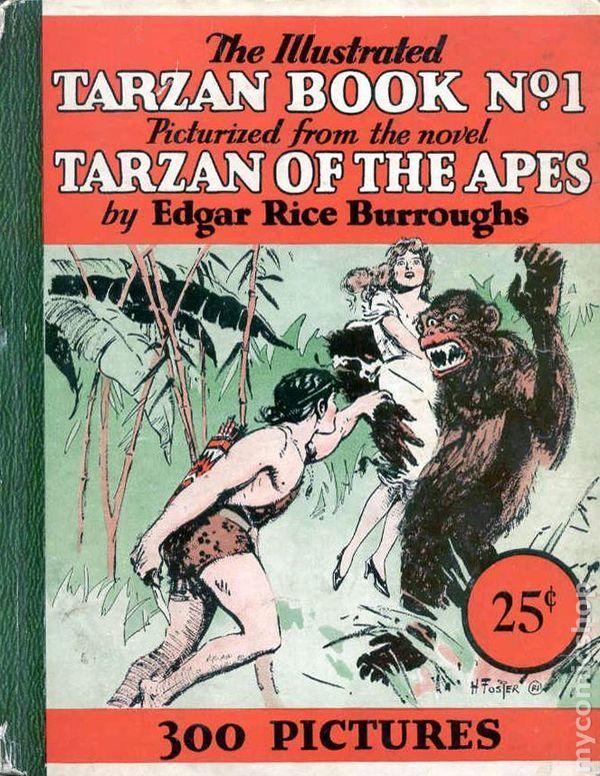 tarzan comic books | Illustrated Tarzan Book (1929) comic books
