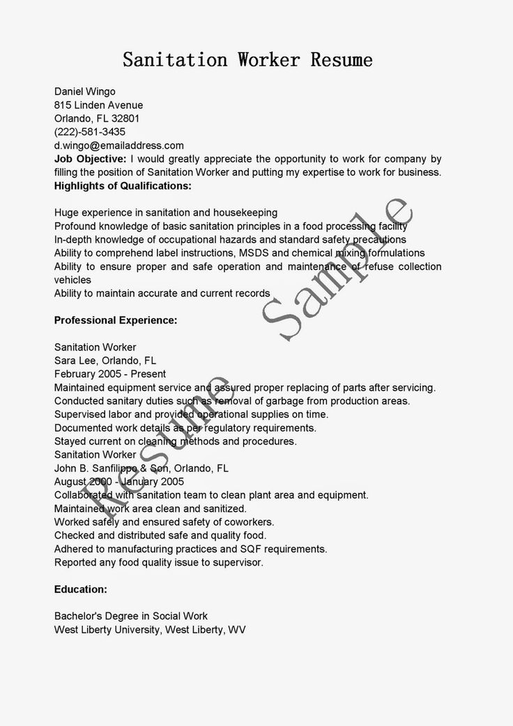 26 best Resume Genius Resume Samples images on Pinterest Sample - hospital housekeeping resume