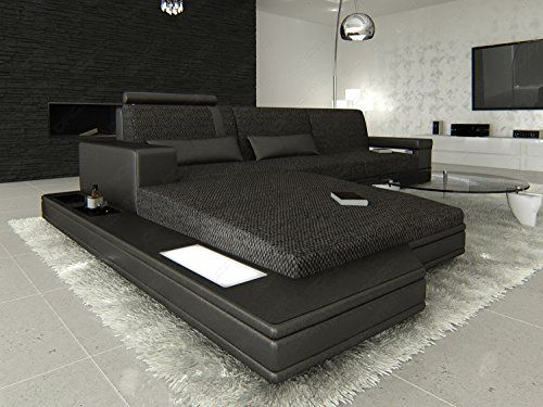 Modern Fabric Sofa MESSANA L with Lights *** See this great product.