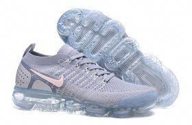 e7a9bb897a3fc Perfect Nike Air VaporMax Flyknit 2. 0 W White Grey 942843 108 Mens Womens  Running Shoes Summer Trainers