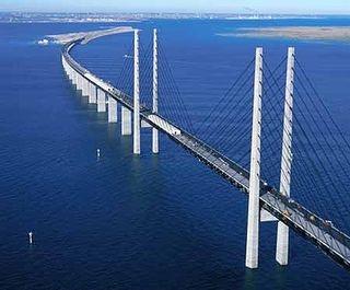 Øresund Bridge connects Sweden and Denmark